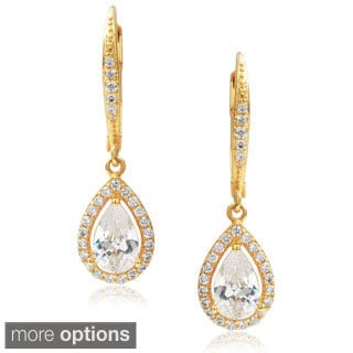 Journee Collection Cubic Zirconia Tear-drop Dangle Earrings