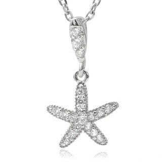 Journee Collection Cubic Zirconia Starfish Pendant