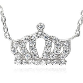 Journee Collection Cubic Zirconia Crown Pendant