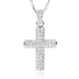Journee Collection Cubic Zirconia Cross Pendant