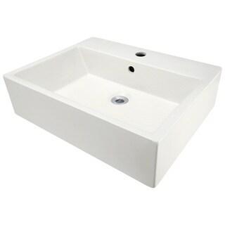 Polaris Sinks Bisque Porcelain Vessel Sink