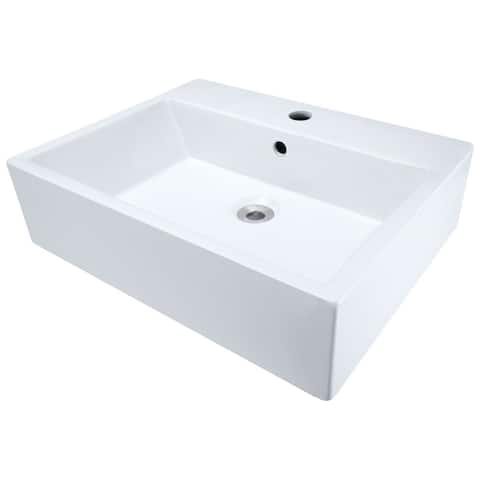 Polaris Sinks White Porcelain Vessel Sink