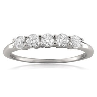 Montebello 18KT White Gold 1/2ct TDW Round-cut Diamond Wedding Band (More options available)
