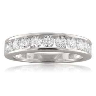 Montebello 18k White Gold 1ct TDW Round-cut Diamond Wedding Band (F-G, VS1-VS2)