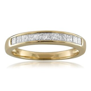 Montebello 14k Yellow Gold 1/2ct TDW Princess-cut Diamond Channel Wedding Band