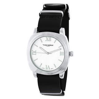 Vernier Paris Women's Genuine Black Leather Campus Sleeve Watch|https://ak1.ostkcdn.com/images/products/9167799/Vernier-Paris-Womens-Genuine-Black-Leather-Campus-Sleeve-Watch-P16345081.jpg?impolicy=medium