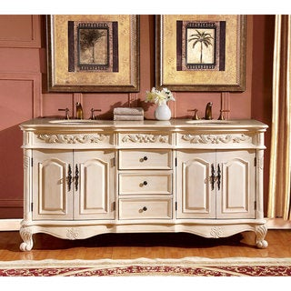 Silkroad Exclusive 72-inch Crema Marfil Marble Stone Top Bathroom Double Sink Vanity|https://ak1.ostkcdn.com/images/products/9167801/P16345025.jpg?_ostk_perf_=percv&impolicy=medium
