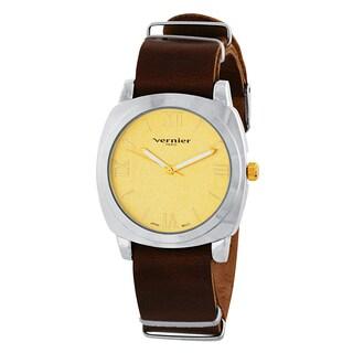 Vernier Paris Women's Genuine Leather Campus Sleeve Watch