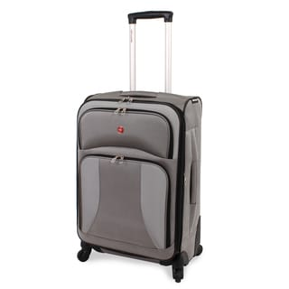 SwissGear 7211 24-inch Grey Medium Expandable Spinner Upright Suitcase