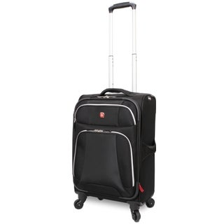 Wenger Monte Leone Black 20-inch Expandable Carry-on Spinner Upright Suitcase
