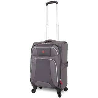 Wenger Monte Leone Grey 20-inch Expandable Carry-on Spinner Upright Suitcase