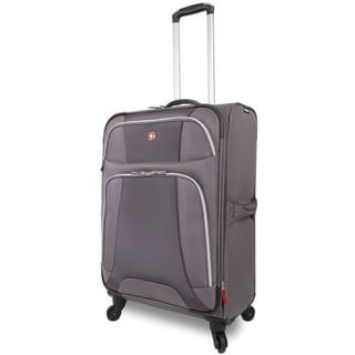 Wenger Monte Leone Grey 24.5-inch Medium Expandable Spinner Upright Suitcase