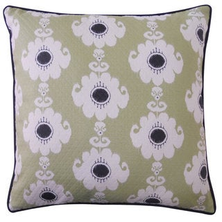 Rose Green Throw Pillow