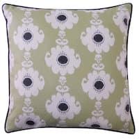 Rose Green Throw Pillow