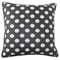 Spot Black Throw Pillow