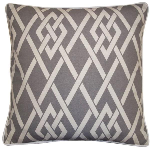 Handmade Point Gray Throw Pillow