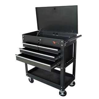 Excel Steel 33-inch Four-drawer Tool Cart