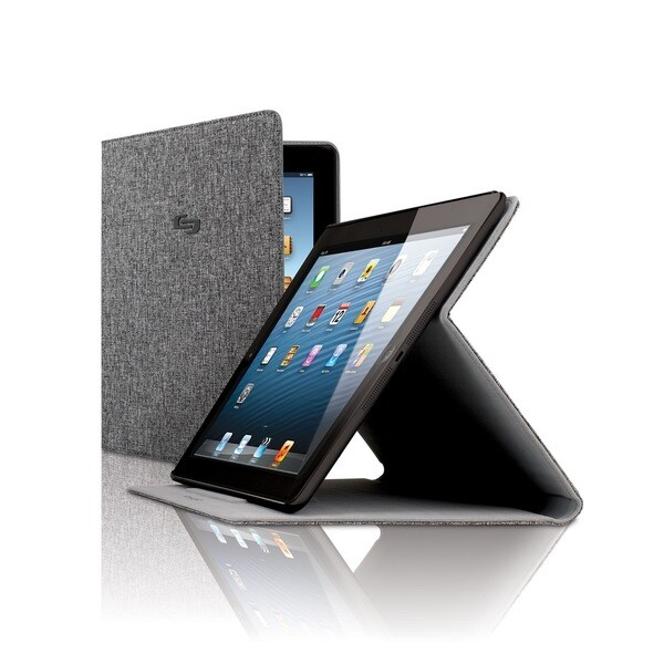 Solo Urban Slim Grey iPad Air Case with Stand. Opens flyout.
