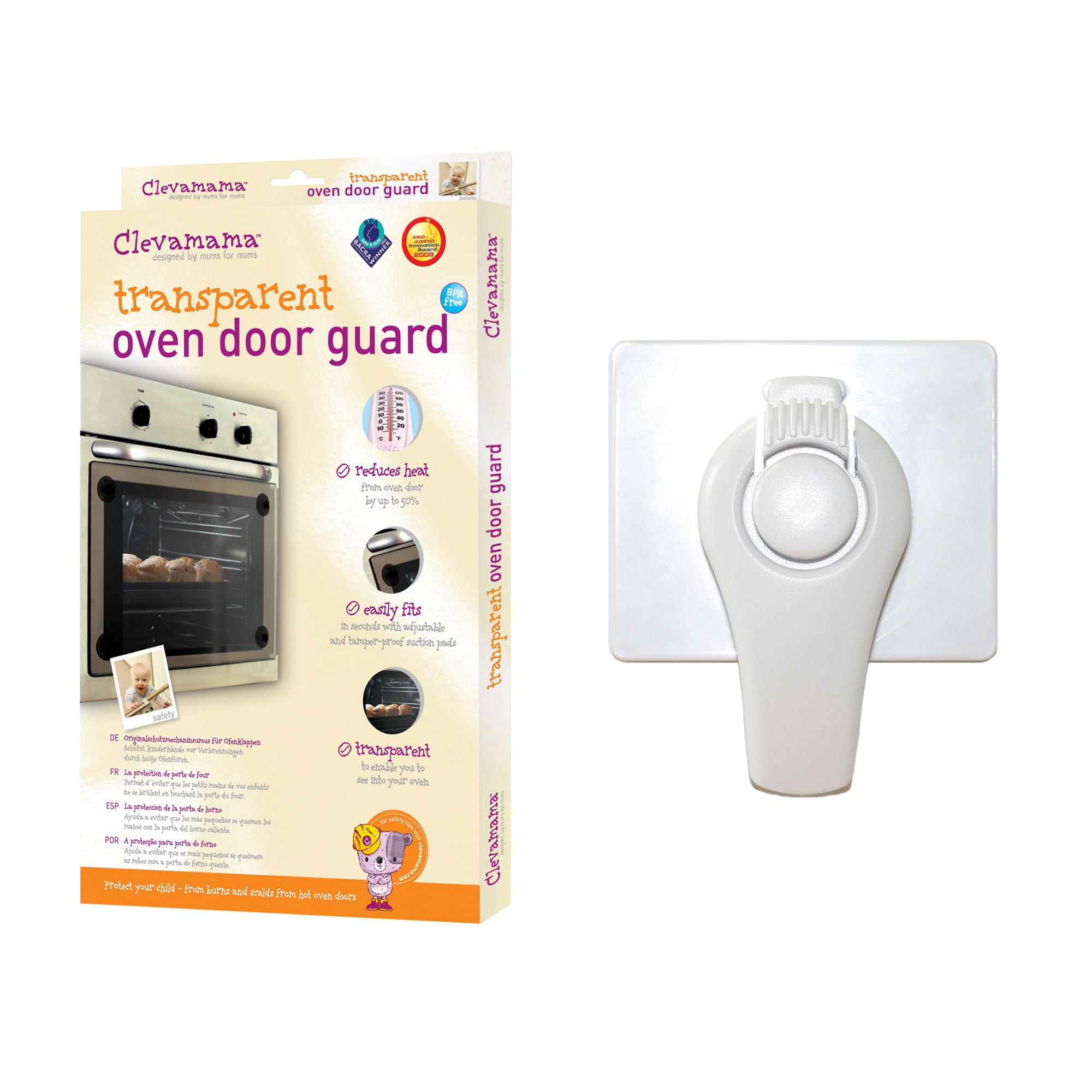 Clevamama Baby Home Safety Oven Guard and Lock Set (CLM00...
