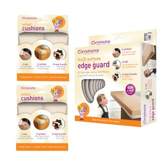 Clevamama Baby Home Safety Edge Guard and Corner Cushions Set