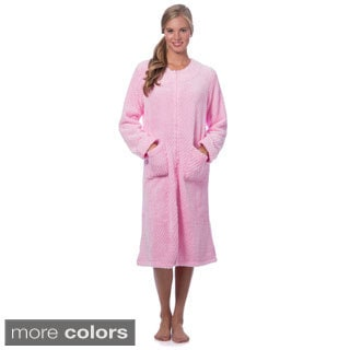 Popcorn Plush Zip Front Robe
