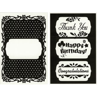 Cgull Happy Birthday Embossing Folder with Changeable Inserts