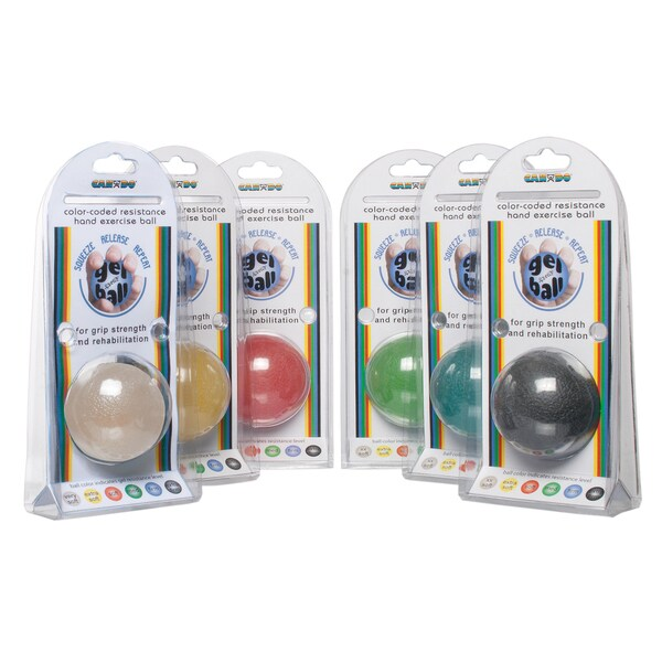 Cando Standard Six-piece Gel Squeeze Ball Set