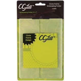 Cgull 12-0006 Circle Frame Embossing Folder