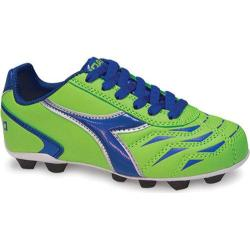 Children's Diadora Capitano MD JR Lime Green/Dark Royal