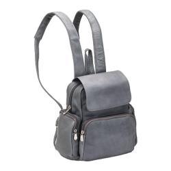 Women's LeDonne Multi Pocket Back Pack Purse TR-125 Grey