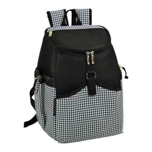 Picnic at Ascot Black and White Houndstooth Backpack Cooler (One Size)