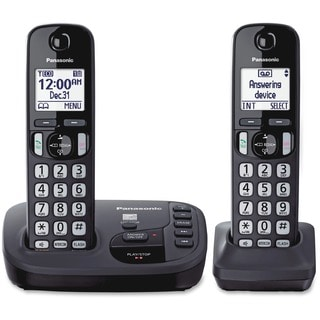 Expandable Digital Cordless Answering System with 2 Handsets