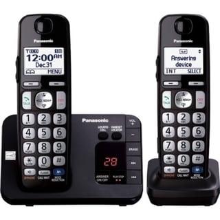 Panasonic KX-TGE232B DECT 6.0 1.90 GHz Cordless Phone - Black