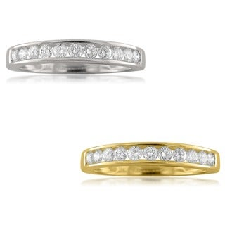 Montebello 18k Gold 1/2ct TDW Round-cut Diamond Wedding Band