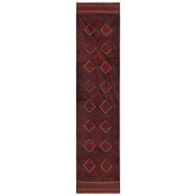 Handmade One-of-a-Kind Balouchi Wool Rug (Afghanistan) - 1'10 x 8'9