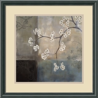 Framed Art Print 'Spa Blossom I' by Laurie Maitland 18 x 18-inch