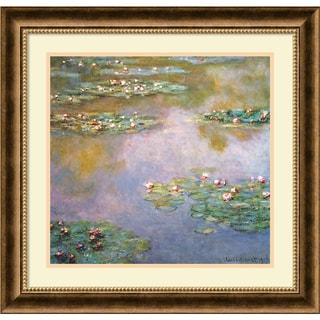 Claude Monet 'Water Lilies, 1907' Framed Art Print 25 x 24-inch