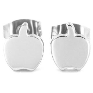Stainless Steel Apple Shaped Earrings