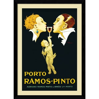 Framed Art Print 'Porto Ramos-Pinto' by Rene Vincent 31 x 43-inch