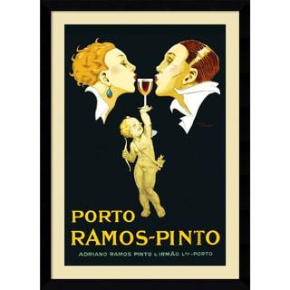 Rene Vincent 'Porto Ramos-Pinto' Framed Art Print 31 x 43-inch