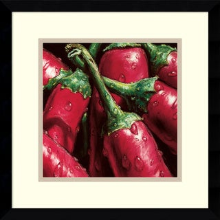 Alma'Ch 'Hot Peppers' Framed Art Print 15 x 15-inch