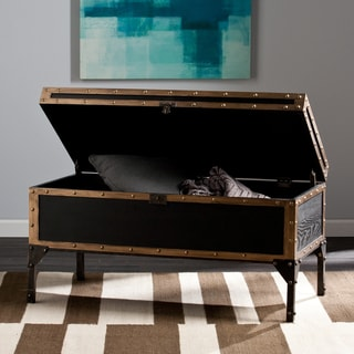 The Curated Nomad Azul Travel Trunk Cocktail/ Coffee Table