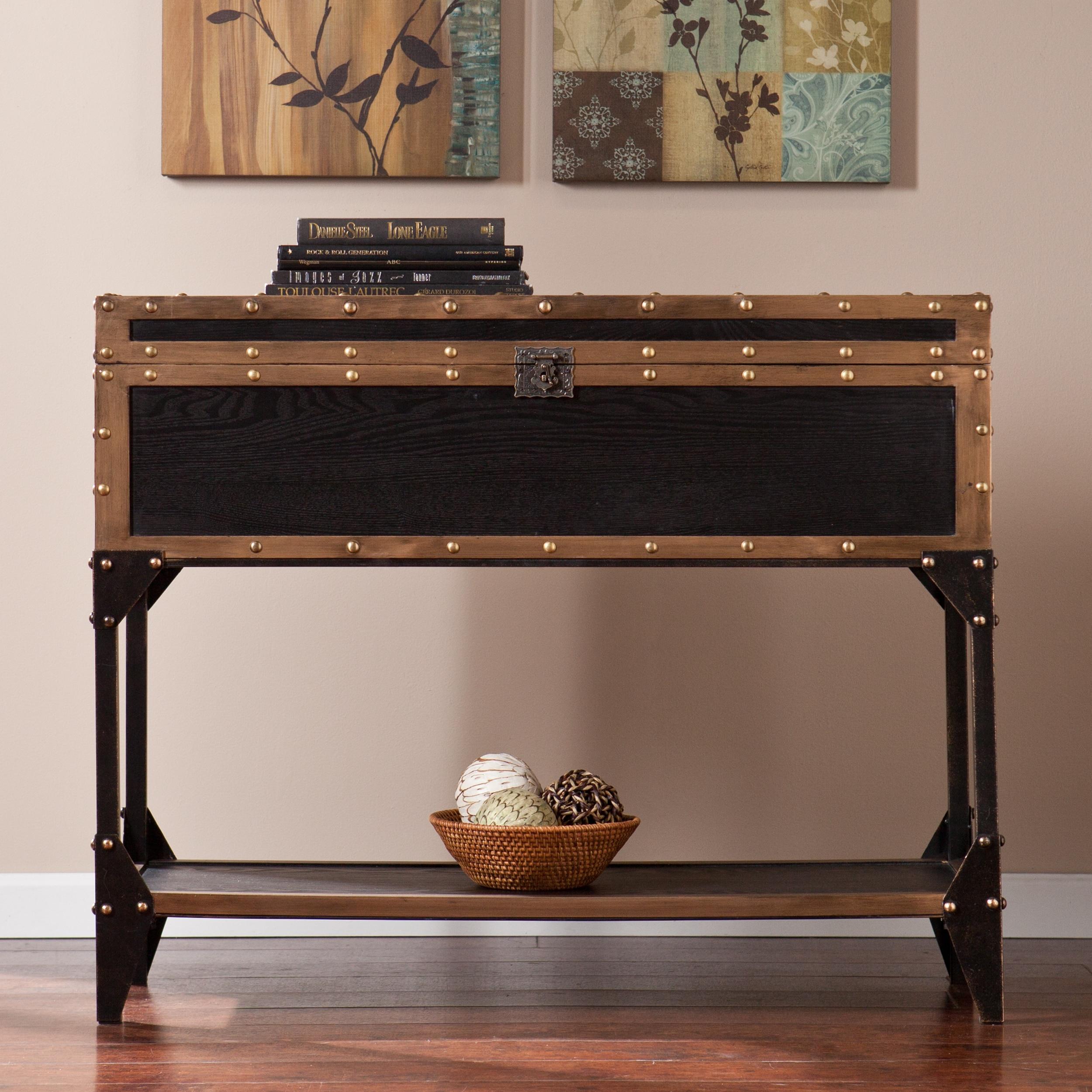 shop harper blvd duncan travel trunk console sofa table free rh overstock com narrow sofa table overstock Overstock Coffee Tables