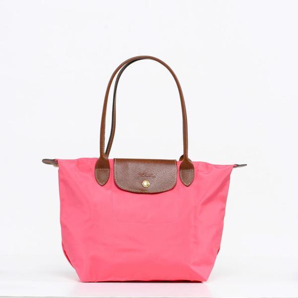 Longchamp Le Pilage Medium Shoulder Tote in Pink