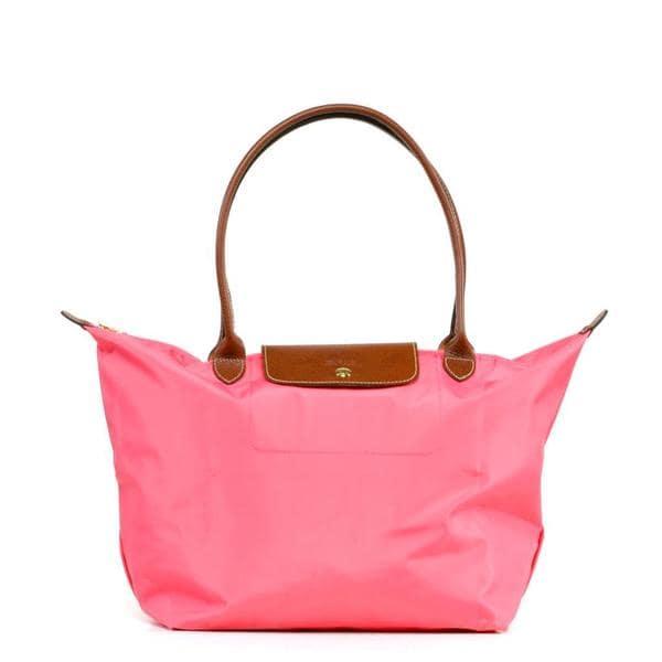 Longchamp Le Pilage Large Shoulder Tote in Pink