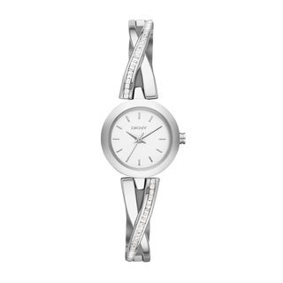 DKNY Women's NY2173 Crosswalk White Silver Watch