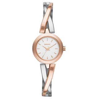 DKNY Women's NY2172 Crosswalk Rose Gold and Silver Tone Watch