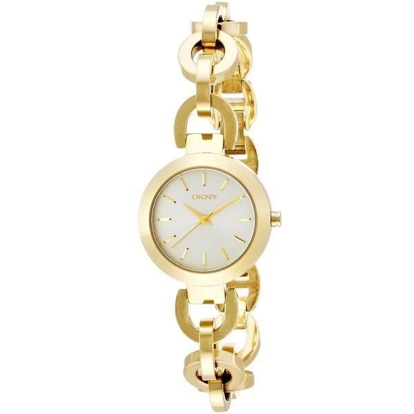 Dkny Women X27 S Ny2134 Stanhope Goldtone Chain Link Bracelet Watch