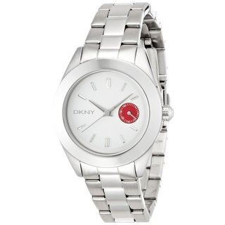 Dkny Women's NY2131 Jitney Red Dial Stainless Steel Watch