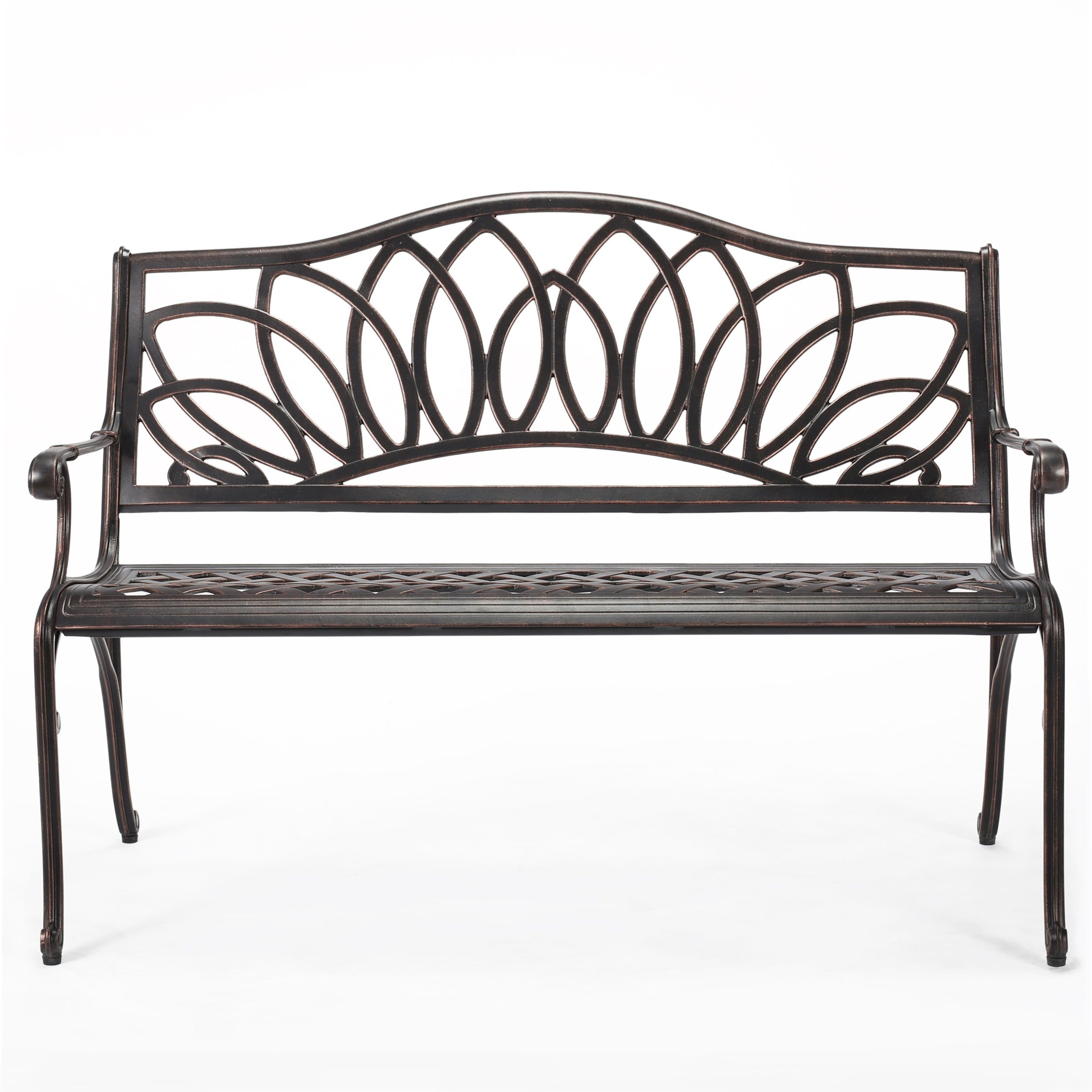 Virginia Outdoor Cast Aluminum Bench by Christopher Knight Home | eBay
